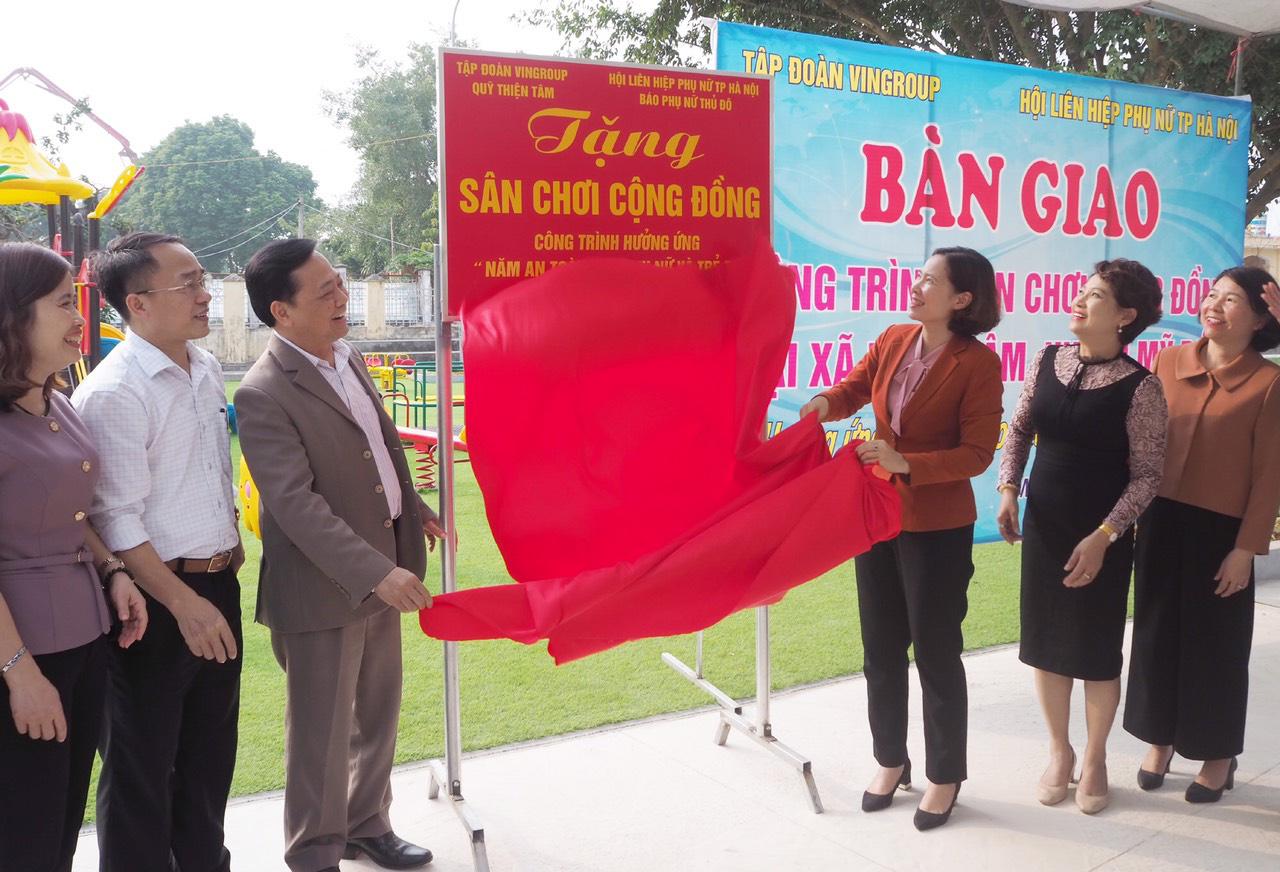 Hội LHPN TP. Hà Nội khánh thành sân chơi cộng đồng 500m2 - Ảnh 1.