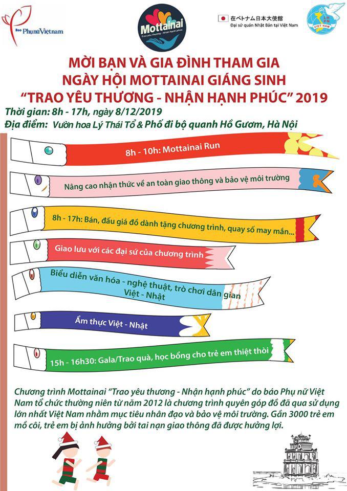 """Còn 6 ngày nữa tới Ngày hội Mottainai 2019 """"Giáng sinh Trao yêu thương - Nhận hạnh phúc"""" - Ảnh 1."""