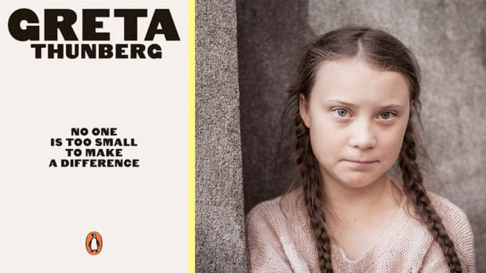 Greta Thunberg và cuốn sách của mình