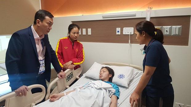 Trung vệ đội bóng đá nữ Việt Nam nhập viện sau chung kết SEA Games 30 - Ảnh 1.