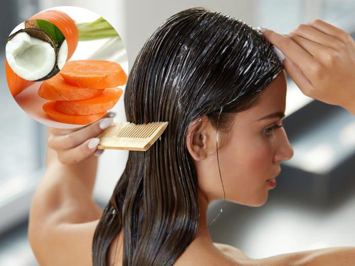 Làm dầu xả cà rốt và nước cốt dừa ngăn ngừa tóc rụng - Ảnh 3.