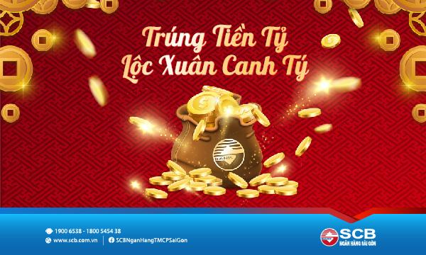 """SCB triển khai chương trình """"Trúng tiền tỷ - Lộc xuân Canh Tý"""" với tổng giá trị giải thưởng hơn 5,6 tỷ đồng"""