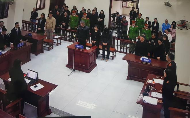HĐXX tuyên án đối với các bị cáo
