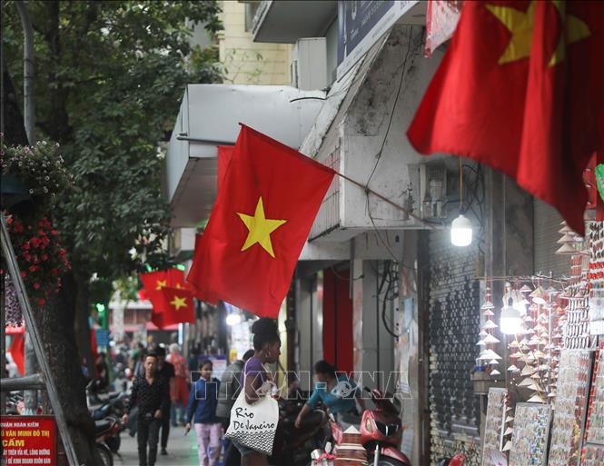 Hà Nội rực rỡ cờ hoa mừng Đảng, mừng Xuân Canh Tý - Ảnh 4.