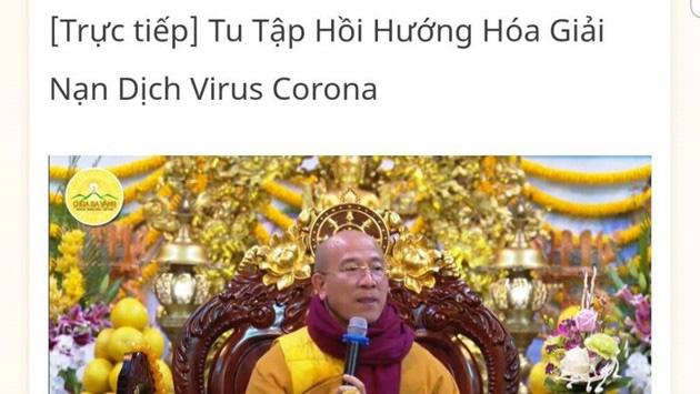 """Chùa Ba Vàng tổ chức """"tu tập hồi hướng hóa giải"""" nạn dịch cúm virus Corona, Quảng Ninh ra thông báo chính thức - Ảnh 1."""