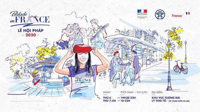 Poster sinh động của Balade en France 2020