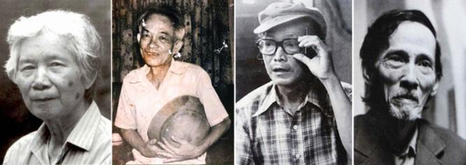 Hình ảnh bộ tứ Nghiêm Liên Sáng Phái sẽ hiện diện trong triển lãm Những người muôn năm cũ