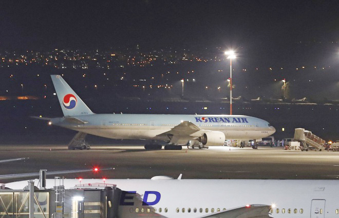 Máy bay của Hàn Quốc hạ cánh ở Tel Aviv (Israel) ngày 22/2