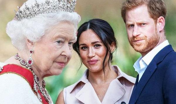 Nữ hoàng Anh Elizabeth II và vợ chồng công tước Harry - Meghan