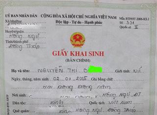 Vụ bé gái bị đưa vào khách sạn, mẹ cháu đã đưa giấy chứng sinh cho xã để làm giấy khai sinh - Ảnh 2.
