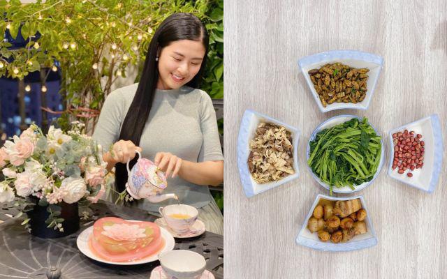 Mâm cơm nhà sao Việt mùa dịch Covid-19: Từ canh rau bình dân tới món Âu nhìn đã thấy thèm - Ảnh 10.
