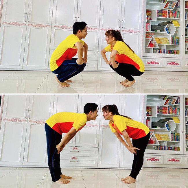 Ở nhà mùa dịch: Ông xã Khánh Thi tập thể dục cùng vợ, chồng Lan Khuê hít đất độc chiêu - Ảnh 5.