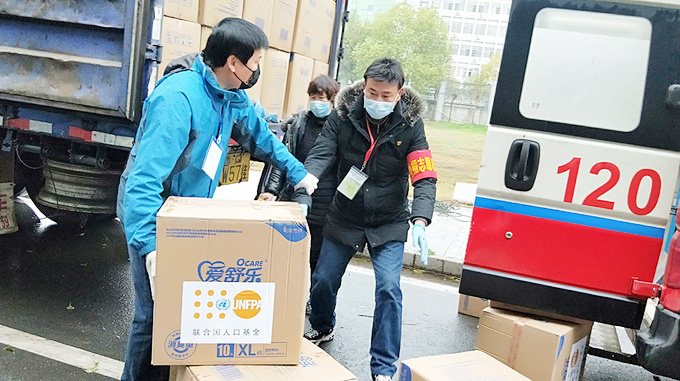 Quỹ dân số LHQ gửi hàng hỗ trợ đến Trung Quốc