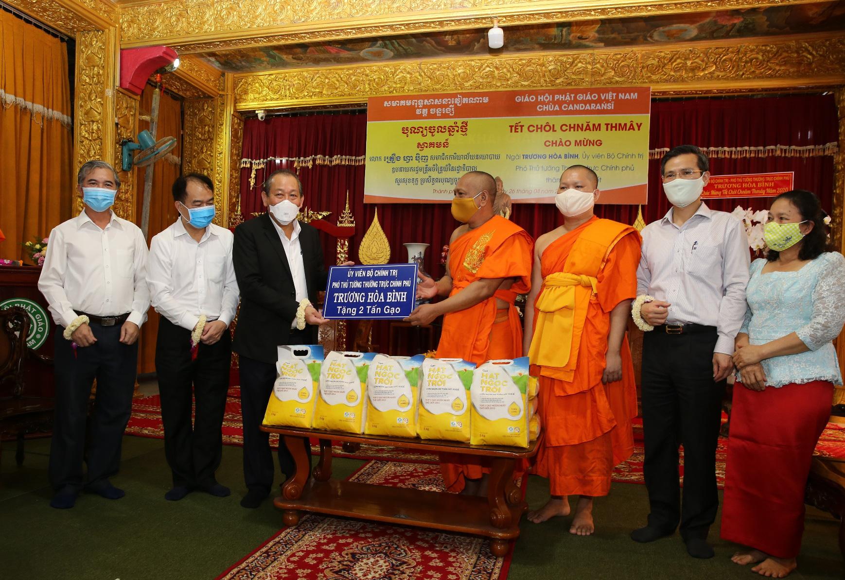 Phó Thủ tướng Thường trực chúc mừng Tết cổ truyền Chôl Chnăm Thmây - Ảnh 2.
