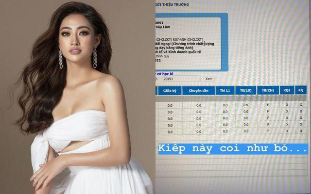 """Hoa hậu học giỏi Lương Thùy Linh sợ bị mẹ đuổi khỏi nhà với bảng điểm """"đội sổ"""" - Ảnh 3."""