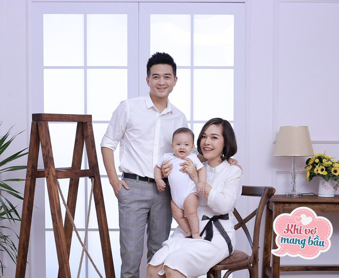 """4 năm mới có mụn con, Đinh Ứng Phi Trường như """"ngồi trên đống lửa"""" khi vợ mang bầu - Ảnh 1."""
