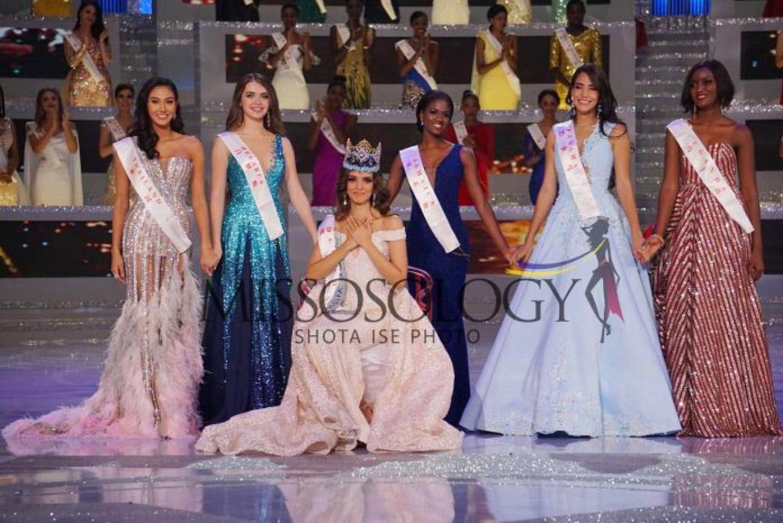 Tân Hoa hậu Thế giới Vanessa Ponce và các người đẹp trong Top 5 Miss World 2018.