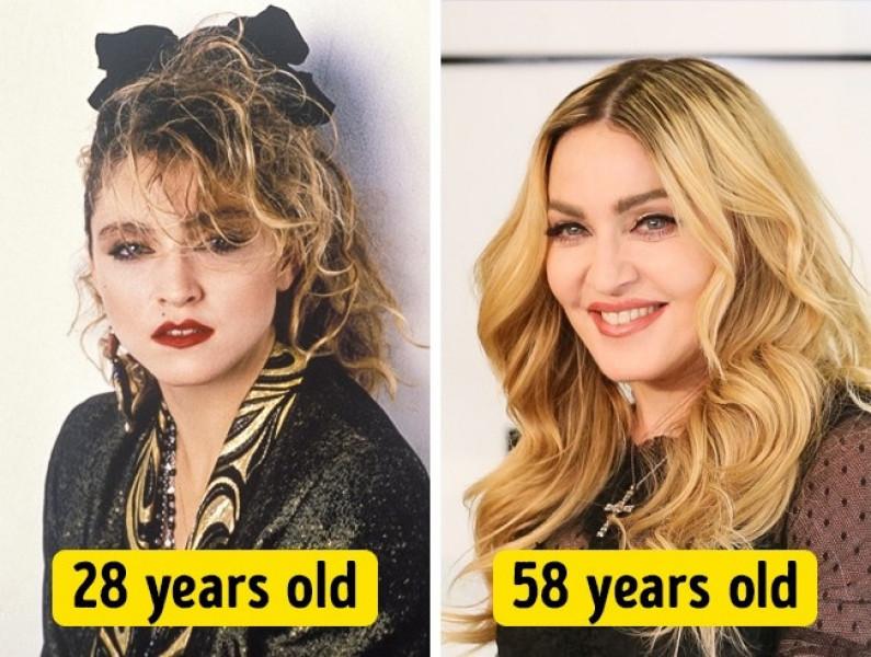 Madona sở hữu nhan sắc đẹp mặn mà dù đã 56 tuổi. Không thể phủ nhận rằng, so với thời 28 tuổi, nữ ca sĩ trông chẳng thay đổi mấy, có khi còn đẹp hơn rất nhiều.