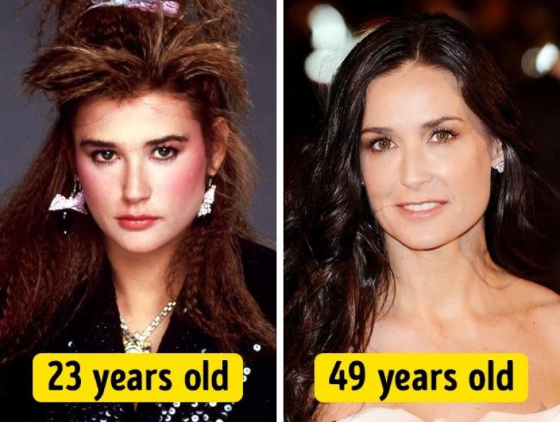 Dù ở ngưỡng tuổi U50 nhưng Demi Moore vẫn đẹp lạ.