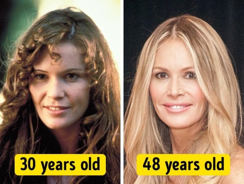 Mái tóc thẳng mang lại sự trẻ trung cho người đẹp Elle Macpherson.