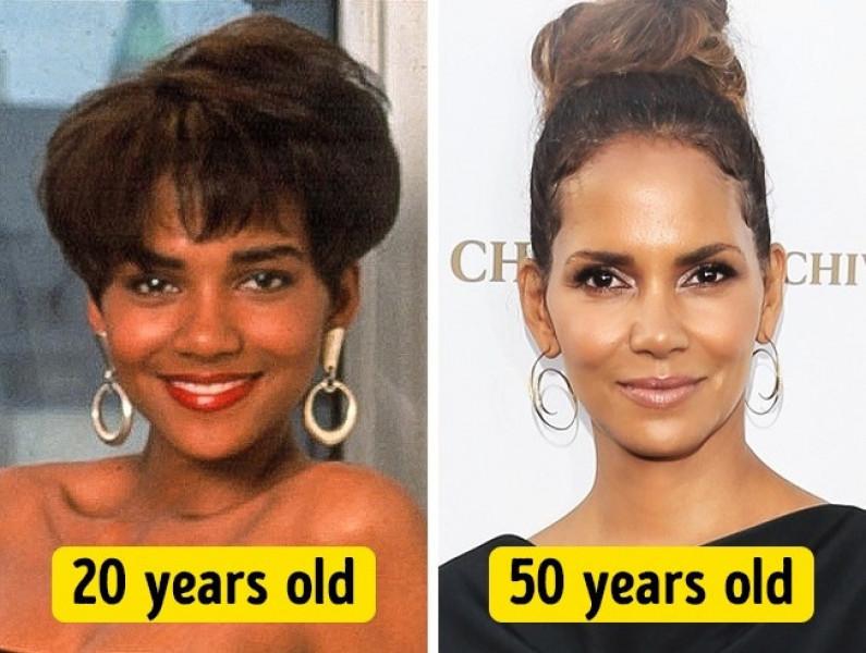 Sở hữu nước da khỏe cùng gương mặt thanh tú, Halle Berry năm 50 tuổi thực sự vẫn rất trẻ đẹp.