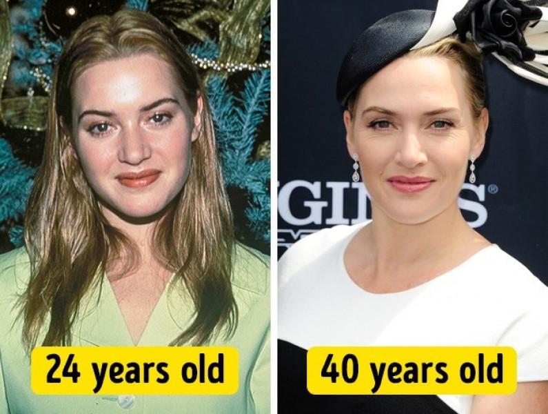 Kate Winslet luôn thể hiện sự trẻ trung, chỉ khác một điều là cô xinh đẹp hơn hẳn so với thời 24 tuổi.