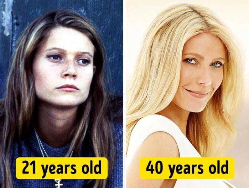 Gwyneth Paltrow đã có sự thay đổi đáng kể, nhan sắc cô đẹp hơn hẳn so với thời đôi mươi.