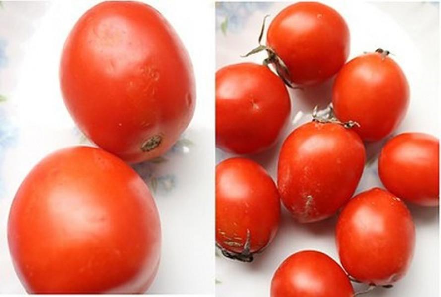 Cà chua do Việt Nam trồng thường quả sẽ nhỏ, không đều nhau về kích thước.  Quả cà chua Trung Quốc thường to và đều nhau.