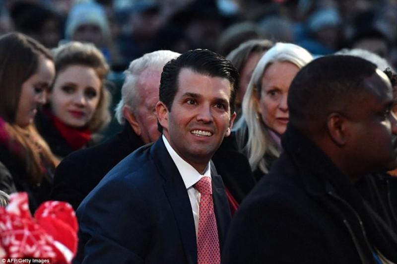 Donald Trump Jr. – con trai Tổng thống Mỹ Donald Trump có mặt tại buổi lễ. Ảnh: AFP/Getty.