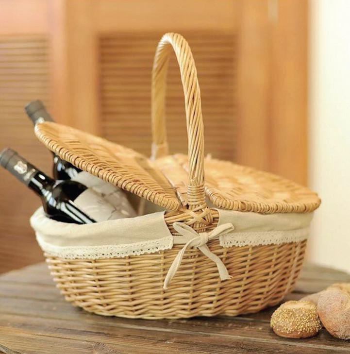 Giỏ mây dùng để đựng rượu vang, 280.000 đồng