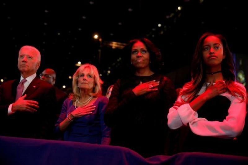 Phó Tổng thống Joe Biden cùng phu nhân Jill Biden có mặt tại lễ phát biểu chia tay của ông Obama.