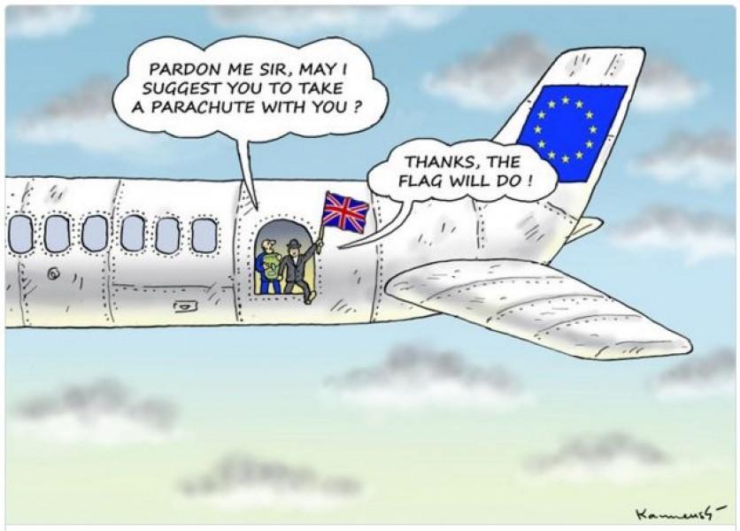 Anh rời khỏi con tàu lớn EU quá bất ngờ và dứt khoát, chẳng vương vấn bất cứ thứ gì.
