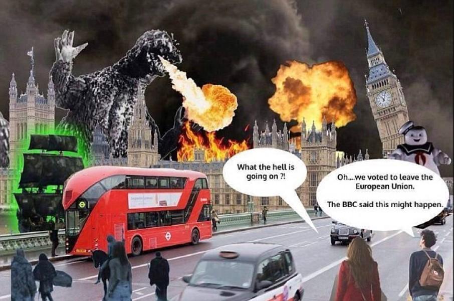 Nước Anh như đang rơi vào bóng tối và hỗn loạn sau khi rời EU.