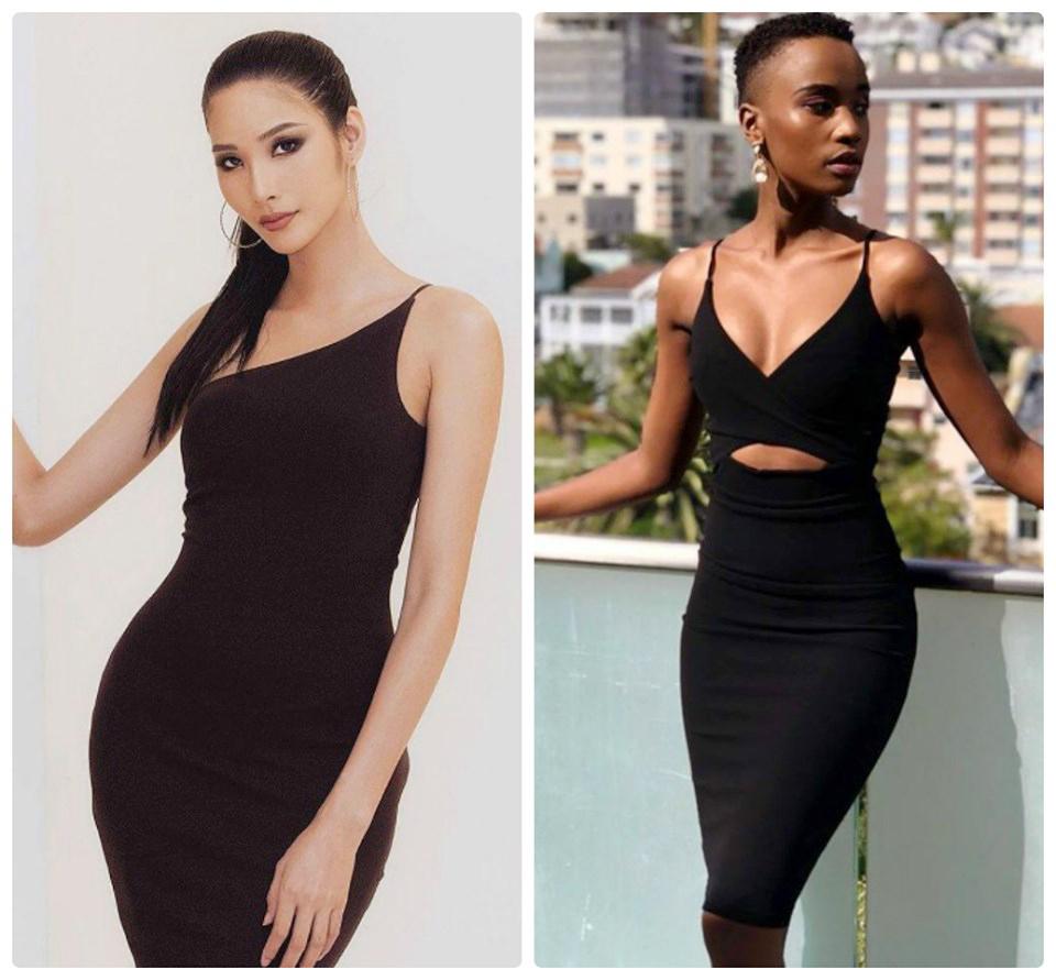 Zozibini Tunzi sẽ đối đầu với Hoàng Thùy (trái) tại cuộc thi Hoa hậu Hoàn vũ - Miss Universe 2019 sắp tới. Trong 2 năm gần đây, Nam Phi đạt được thành công lớn tại