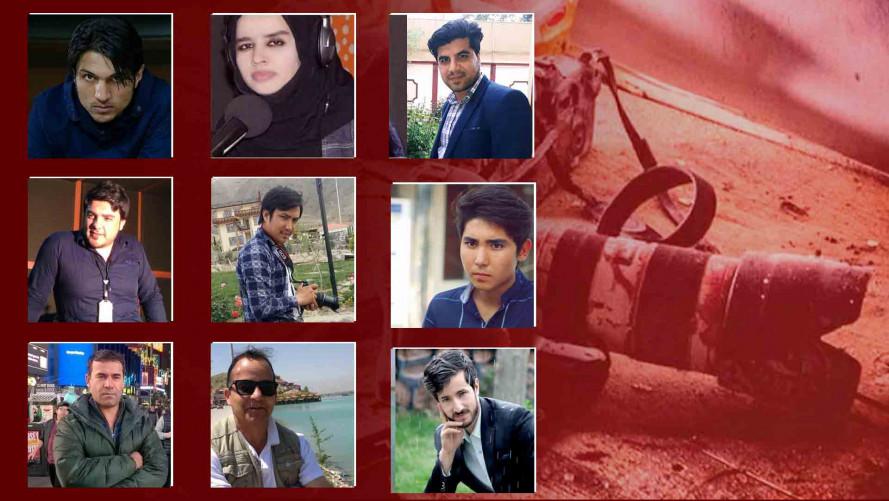 Các nhà báo gặp nạn khi đang có mặt tại hiện trường vụ đánh bom thứ nhất để đưa tin và đã trở thành mục tiêu của vụ đánh bom liều chết thứ 2 xảy ra 40 phút sau đó. Những nhà báo thiệt mạng bao gồm phóng viên ảnh kỳ cựu của hãng tin AFP Shah Marai Faizi, 2 nhà báo của Radio Free Europe. Số còn lại là phóng viên làm việc cho các hãng thông tấn địa phương, trong đó có nhà báo nữ Maharam Durani của đài Radio Azadi.