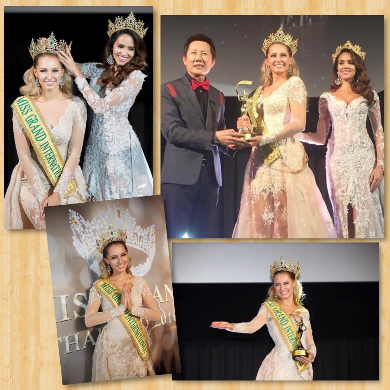 Tuy nhiên, sau đó do người đẹp Anea Garcia bị tước vương miện Miss Grand International 2015 nên Claire Elizabeth Parker được