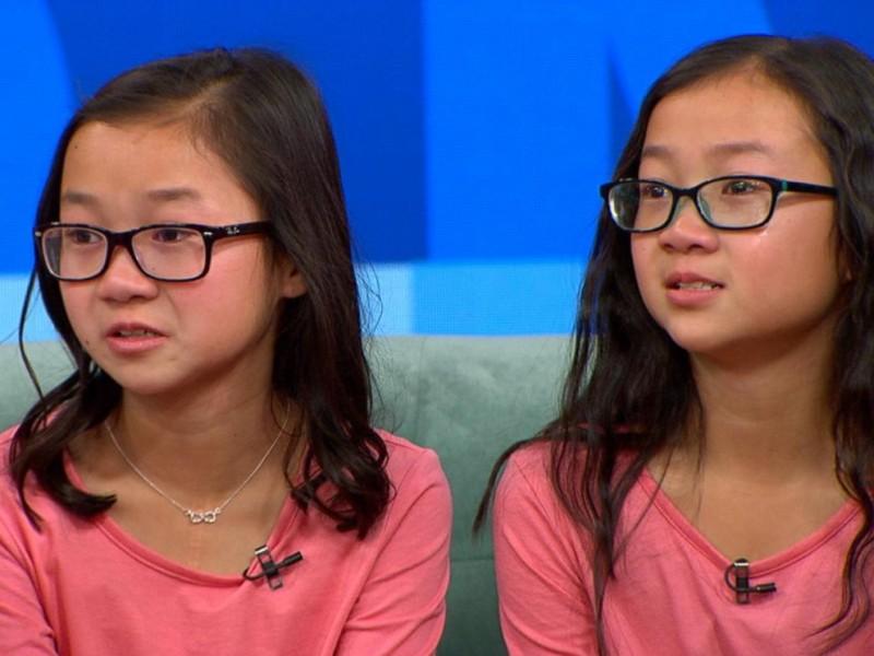 Câu chuyện về cặp song sinh Audrey và Gracie thu hút sự chú ý của báo chí và truyền hình Mỹ suốt thời gian qua. Cuộc gặp mặt đầu tiên của chị em song sinh Audrey - Gracie vừa diễn ra ngày 11/1 ngay trên sóng chương trình truyền hình