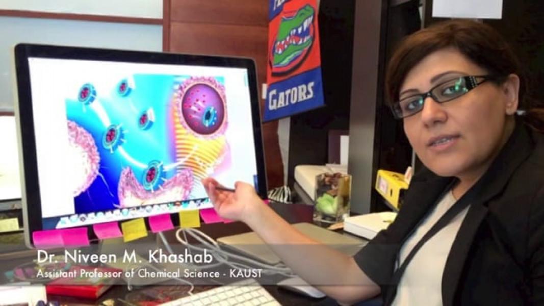 Giáo sư người Liban Niveen M.Khashab sáng tạo ra các hạt nano giúp tăng cường việc chẩn đoán bệnh.