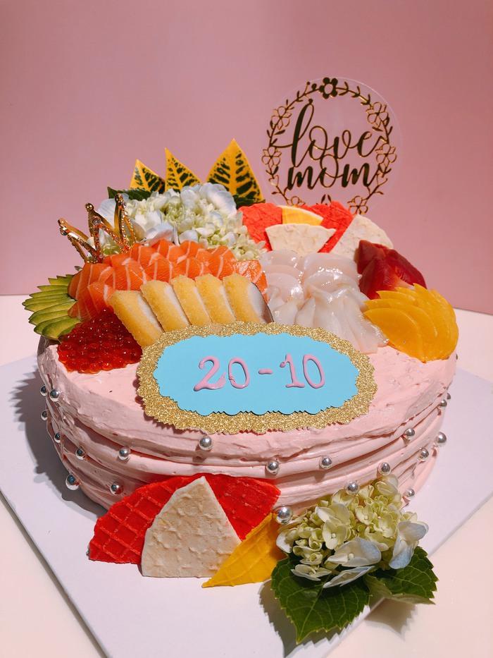 Độc đáo bánh gato sushi tiền triệu làm quà 20/10 - Ảnh 3.