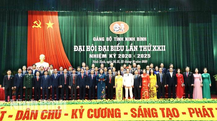 Ban Chấp hành Đảng bộ tỉnh Ninh Bình khóa XXII ra mắt Đại hội