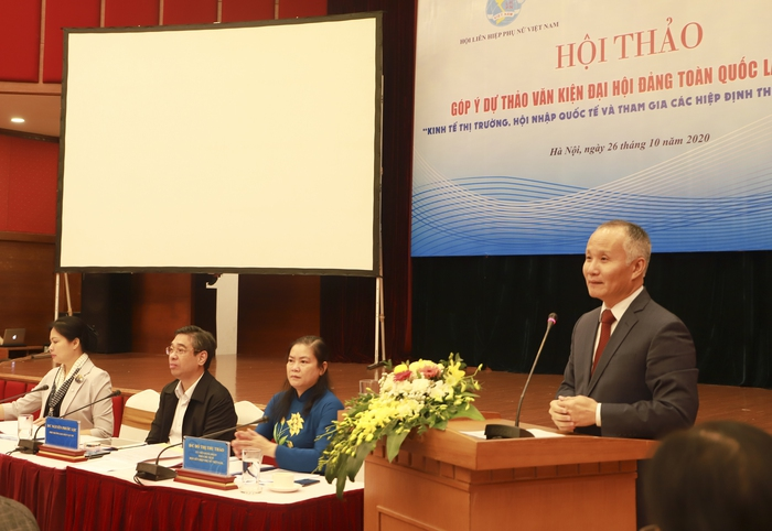 Nữ doanh nhân đóng góp ý kiến về Kinh tế thị trường, hội nhập quốc tế và tham gia các Hiệp định thương mại - Ảnh 3.