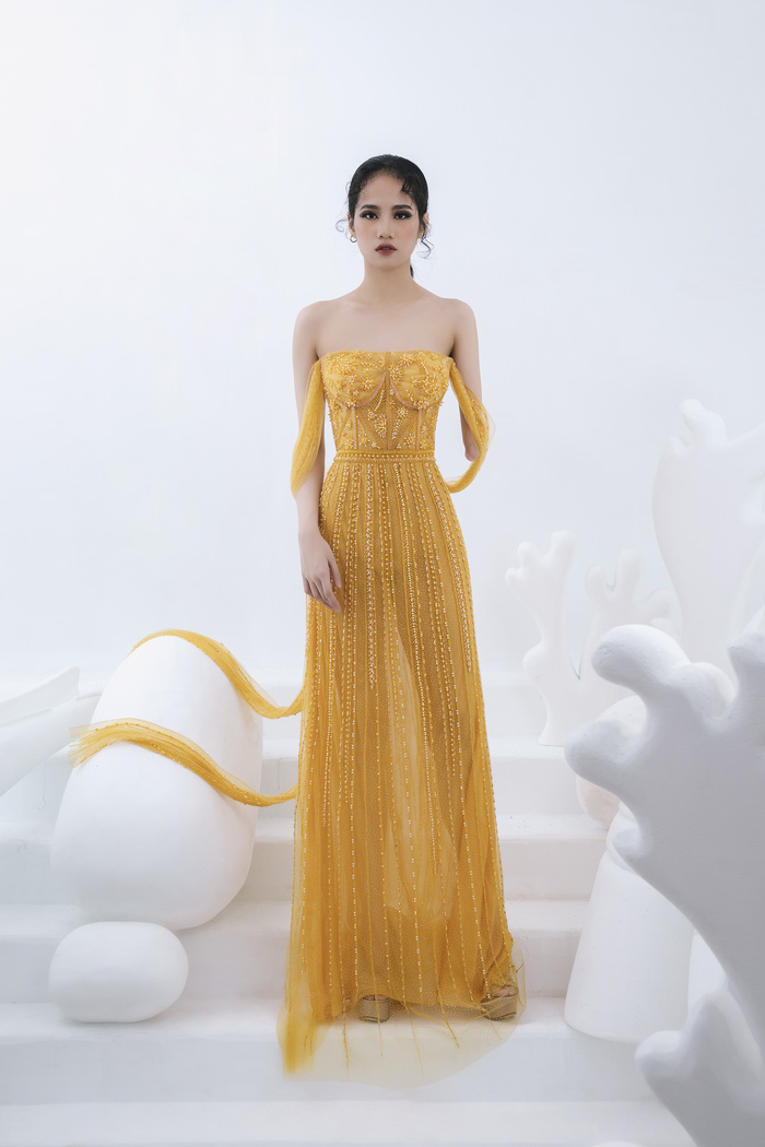 Người mẫu khuyết tay Hà Phương tự tin khoe dáng với đầm dạ hội - Ảnh 3.