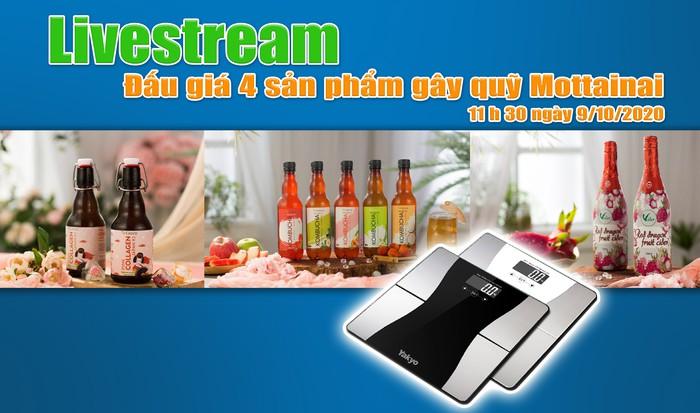 11h30 ngày 9/10: Livestream đấu giá 4 sản phẩm gây quỹ Mottainai 2020 - Ảnh 1.
