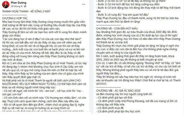 """Bài viết """"bóc phốt"""" cô giáo Hoài Thanh trên mạng xã được chủ tài khoản P. D  xóa bỏ"""