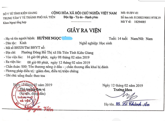 Vụ bạo hành trẻ em ở Hà Tiên: Chấn thương đầu cũng vẫn không khởi tố vụ án - Ảnh 2.