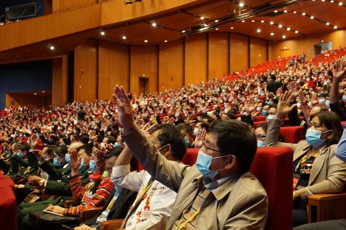 Đại biểu nữ tham gia Đoàn Chủ tịch Đại hội Đại biểu toàn quốc các dân tộc thiểu số Việt Nam lần thứ II chiếm 39,7% - Ảnh 2.