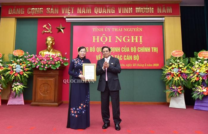 Bà Nguyễn Thanh Hải được bổ nhiệm giữ chức Bí thư Tỉnh ủy Thái Nguyên  - Ảnh 1.