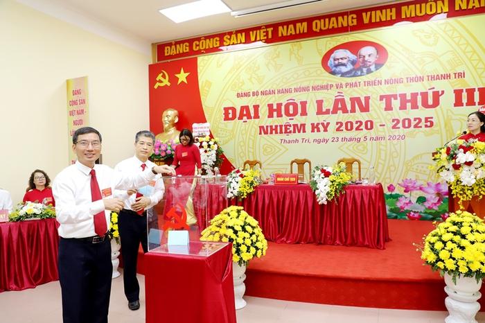 Đảng bộ Agribank Thanh Trì thí điểm bầu trực tiếp Bí thư tại Đại hội - Ảnh 2.