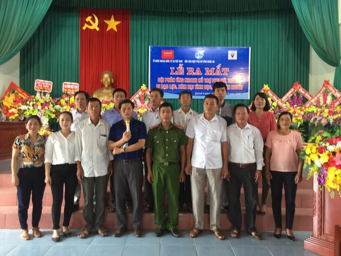 Ra mắt Đội phản ứng nhanh hỗ trợ phụ nữ, trẻ em bị bạo lực, xâm hại tình dục, mua bán người tại Quỳnh Lưu - Ảnh 1.