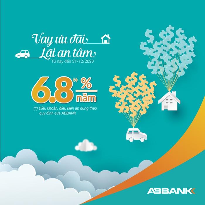 ABBANK tiếp tục giảm lãi suất vay cá nhân xuống còn 6,8%/năm - Ảnh 1.
